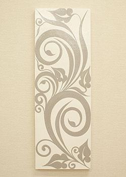 バリ絵画 ドットアート 100x35 C モノトーン 「バリ絵画『ドットアート』」