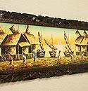 バリ島 風景画ロング 油絵04 「バリ島の風景画『ライステラス、トロピカルビーチなど』」