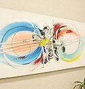 バリ絵画 モダンアート120×45 11 「バリ絵画『モダンスタイルアート』」