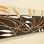 バリ絵画 ドットアート100x35 E02 「バリ絵画・アジアンアート」