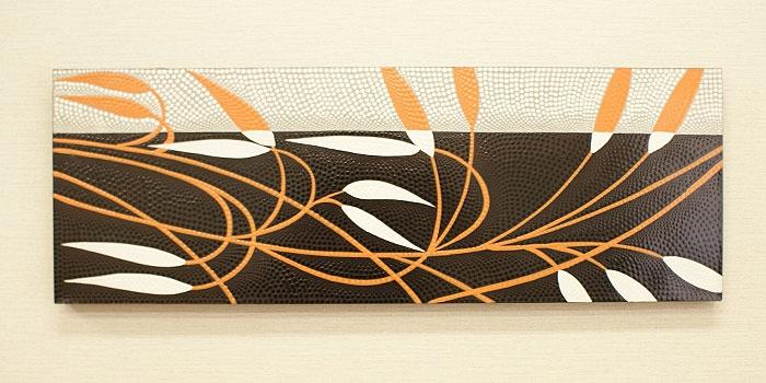 バリ絵画 ドットアート100x35 E02 「バリ絵画『ドットアート』」