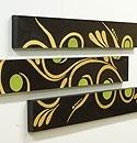 バリ絵画 3連ドットアート R(アウトレット) 「バリ絵画『ドットアート』」