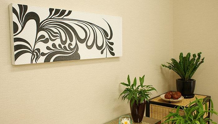 バリ絵画 ドットアート100x35 Ab01 「バリ絵画『ドットアート』」