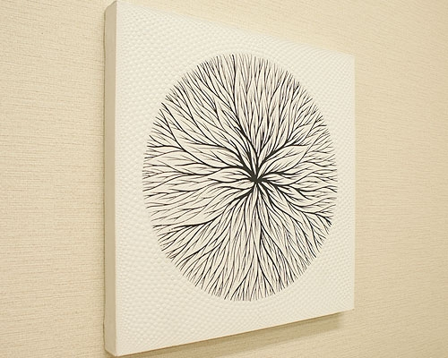 バリ絵画 ドットアート 50x50 Ab03 「バリ絵画『ドットアート』」