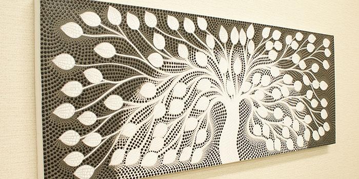バリ絵画 ドットアート 120x45 Ab05 「バリ絵画『ドットアート』」