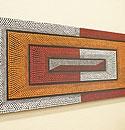 バリ絵画 ドットアート 120x45 Ab04 「バリ絵画『ドットアート』」