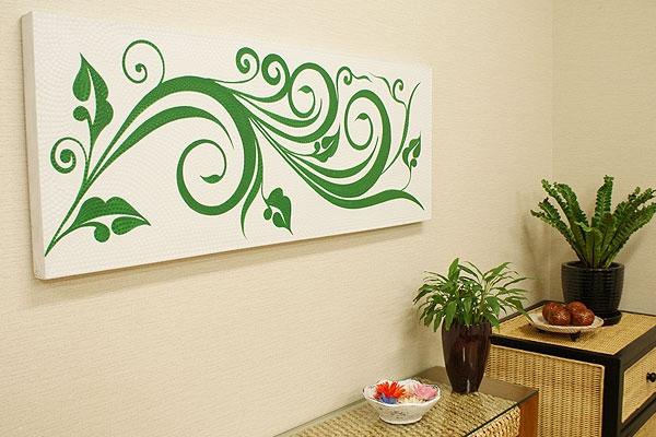 バリ絵画 ドットアート 120×45 C02 「バリ絵画『ドットアート』」