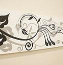 バリ絵画 ドットアート100×35 SU-01 「バリ絵画『ドットアート』」