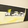 バリ絵画 モダンスタイルアート120×45 02 「」