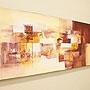 バリ絵画 モダンスタイルアート120×45 23-C 「バリ絵画・アジアンアート」