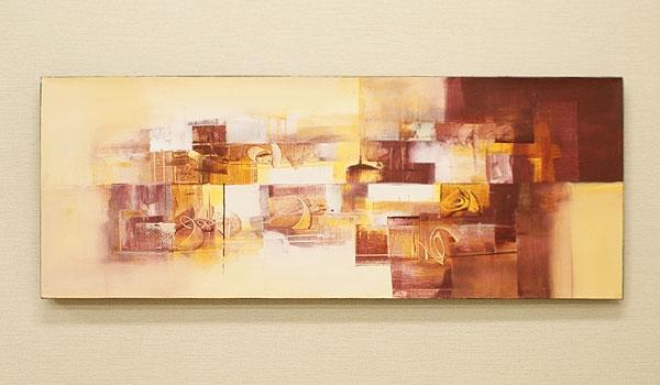 バリ絵画 モダンスタイルアート120×45 23-C 「バリ絵画『モダンスタイルアート』」