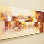 バリ絵画 モダンスタイルアート120×45 23-D 「バリ絵画・アジアンアート」