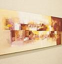 バリ絵画 モダンスタイルアート120×45 23-D 「バリ絵画『モダンスタイルアート』」