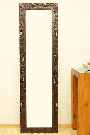 アジアンレリーフ ミラー 45×150 A 「壁掛けミラー」