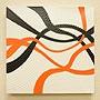 バリ絵画 ドットアート40×40 Owh 「バリ絵画『ドットアート』」