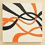 バリ絵画 ドットアート 30×30 Owh 「バリ絵画『ドットアート』」