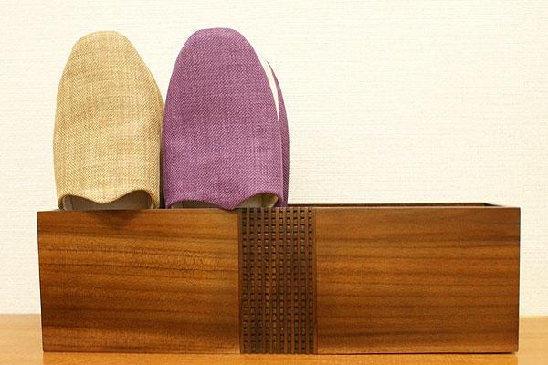 木製 スリッパラック スリム