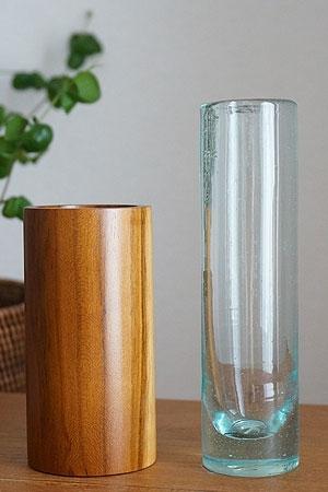 アジアンインテリア 花瓶 一輪挿し ガラス