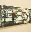 バリ絵画 モダンスタイルアート100×35 24 「バリ絵画『モダンスタイルアート』」