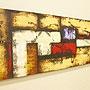 バリ絵画 モダンスタイルアート120×45 25 「バリ絵画『モダンスタイルアート』」
