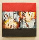 バリ絵画 モダンスタイルアート30×30 14 「バリ絵画『モダンスタイルアート』」