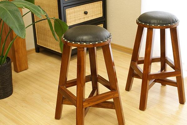 アジアン家具 木製 スツール