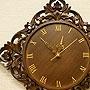 チーク レリーフ 壁掛け時計 A 「壁掛け時計」