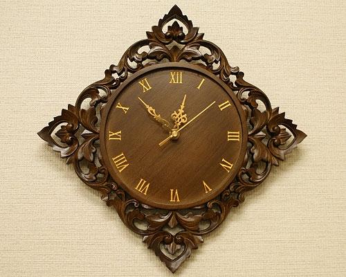 無垢 木製 掛け時計 アンティーク