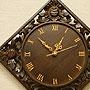 チーク レリーフ 壁掛け時計 D 「壁掛け時計」