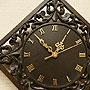 アジアン レリーフ 木製 壁掛け時計 B 「ウォールインテリア(壁掛け)」