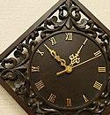 アジアン レリーフ 木製 壁掛け時計 B 「壁掛け時計」