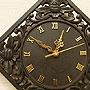 アジアン レリーフ 木製 壁掛け時計 D 「壁掛け時計」
