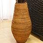 ラタン フラワーベース B アンティークブラウン (約60cm) 「バリ雑貨『アタ&ラタン』」