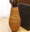 ラタン フラワーベース B アンティークブラウン (約60cm) 「フラワーベース」