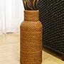 ラタン フラワーベース A アンティークブラウン (50cm)