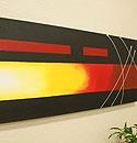 バリ絵画 モダンアート120×45 17 「バリ絵画『モダンスタイルアート』」