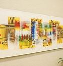 バリ絵画 モダンアート120×45 26 「バリ絵画『モダンスタイルアート』」