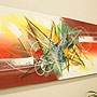 バリ絵画 モダンアート120×45 27 「バリ絵画『モダンスタイルアート』」
