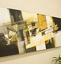 バリ絵画 モダンアート120×45 28 「バリ絵画『モダンスタイルアート』」