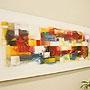 バリ絵画 モダンアート120×45 29 「バリ絵画・アジアンアート」