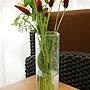 バリガラス フラワーベース クラック ラウンド Mサイズ 「バリ雑貨『陶器&ガラス』」