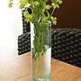 バリガラス フラワーベース クラック ラウンド Sサイズ 「バリ雑貨『陶器&ガラス』」