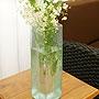 バリガラス フラワーベース クラック スクエア Lサイズ 「バリ雑貨『陶器&ガラス』」