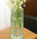 バリガラス フラワーベース クラック スクエア Lサイズ 「フラワーベース」