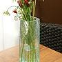 バリガラス フラワーベース クラック スクエア Mサイズ 「バリ雑貨『陶器&ガラス』」