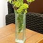 バリガラス フラワーベース クラック スクエア Sサイズ 「バリ雑貨『陶器&ガラス』」