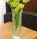 バリガラス フラワーベース クラック スクエア Sサイズ 「フラワーベース」