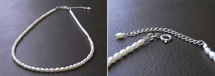 パールネックレス 「天然石ネックレス」