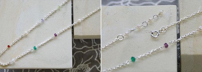 天然石マルチカラーネックレス 「天然石ネックレス」