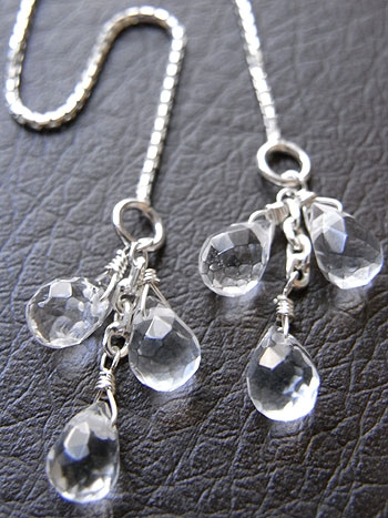 天然石アメリカンピアス17『水晶』 「天然石ピアス/イヤリング」
